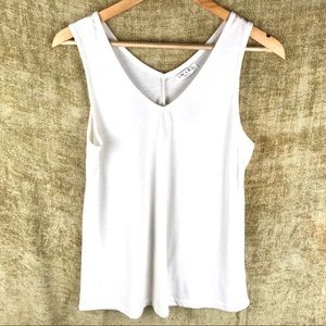 AWAKE white sleeveless tank M